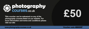 Photography Courses UK : £50 Gift Voucher